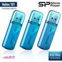 Silicon Power Helios 101 Flashdisk USB2.0 - 16GB-64GB Blue