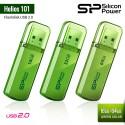 Silicon Power Helios 101 Flashdisk USB2.0 - 16GB-64GB Green