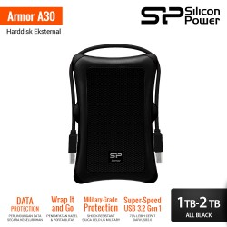 Silicon Power Armor A30 Harddisk Eksternal USB3.2 - 1TB-2TB All Black