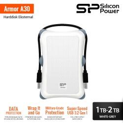 Silicon Power Armor A30 Harddisk Eksternal USB3.2 - 1TB-2TB White