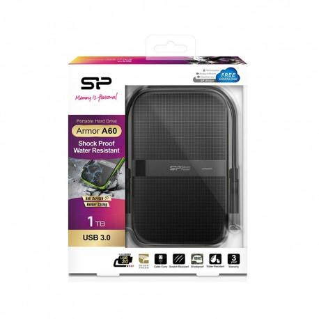 Silicon Power Armor A60 Harddisk Eksternal USB3.2 - 1TB All Black