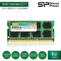 Silicon Power DDR3 1600MHz CL11 PC3-12800 SO-DIMM RAM Laptop - 8GB