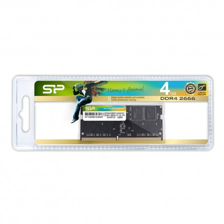 Silicon Power DDR4 2666 CL19 SO-DIMM RAM Laptop - 4GB
