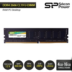 Silicon Power DDR4 2666MHz CL19 UDIMM - 4GB-16GB