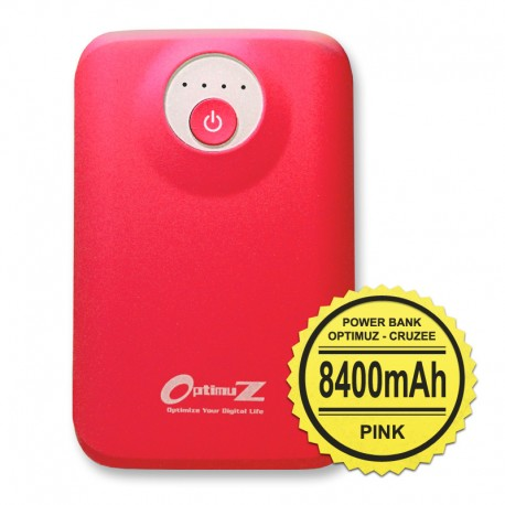 Optimuz Power Bank Cruzee 8400mAh-Pink
