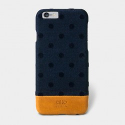 Alto Leather Case for iPhone 6 - Denim - Navy Bubble