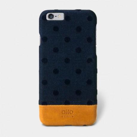 Alto Leather Case for iPhone 6 - Denim - Navy Bubble