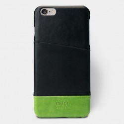 Alto Leather Case for iPhone 6 Plus - Metro Plus - Black / Green