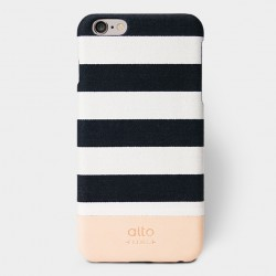 Alto Leather Case for iPhone 6 Plus - Denim Plus - Zebra White