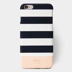 Alto Leather Case for iPhone 6 Plus - Denim Plus - Zebra White