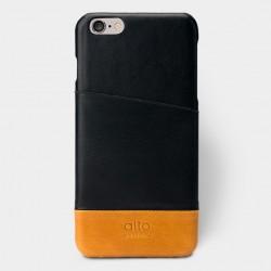 Alto Leather Case for iPhone 6 Plus - Metro Plus - Black / Light Brown
