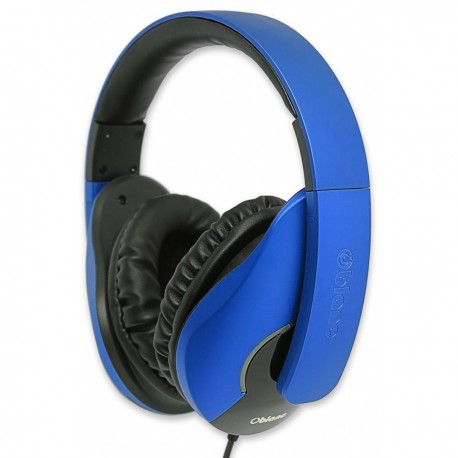 Oblanc SHELL200 Stereo Headphones with In-line Microphone & Call Control - NC3-1-Blue