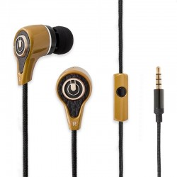 Oblanc Mobile In-ear Headphone with In Line Microphone for Smartphones, Tablets, Laptops or PC - NX1 Champagne Gold