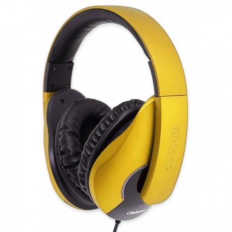 Oblanc SHELL200 Stereo Headphones with In-line Microphone & Call Control - NC3-1- Yellow
