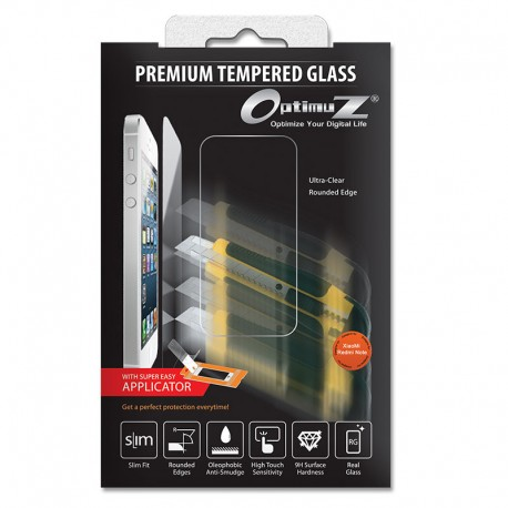 Optimuz Tempered Glass Asahi 0.33mm with Applicator for Xiaomi RedmiNote