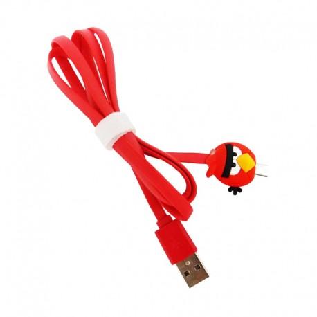 Kabel Data Micro USB LED Karakter - Angry Bird