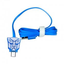 Kabel Data Micro USB LED Karakter - Transformer