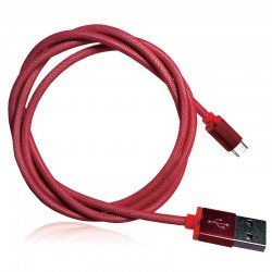 OptimuZ Cable Network Micro USB - Red