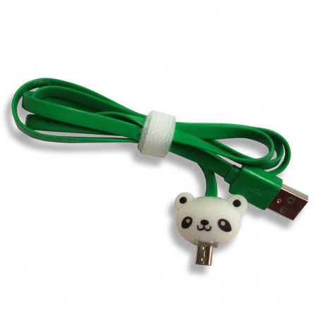 Kabel Data Micro USB LED Karakter Panda