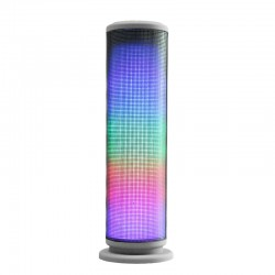 Kingwon JHW-V169 Speaker Mini Bluetooth dengan Lampu LED dan FM radio - Silver