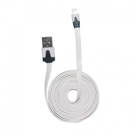 Cable Noodle Flat for iPhone 5 – White 2m
