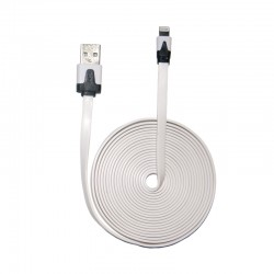 Cable Noodle Flat for iPhone 5 – White 3m
