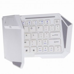 OptimuZ Keyboard Lipat / Folding Bluetooth BK-03S - Putih