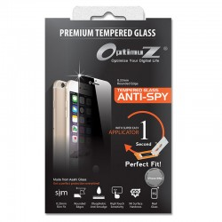 OptimuZ Tempered Glass Anti Spy with Applicator - iPhone 5