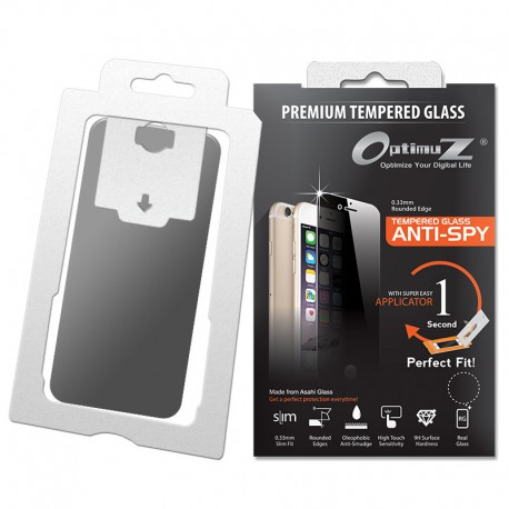 OptimuZ Tempered Glass Anti Spy with Applicator
