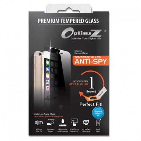 OptimuZ Tempered Glass Anti Spy with Applicator - Samsung S6