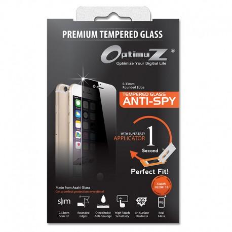OptimuZ Tempered Glass Anti Spy with Applicator - XiaoMi Redmi 1S
