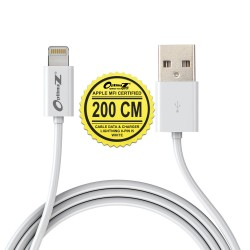OptimuZ Kabel Lightning 8-pin i5 Apple MFI Certified – 2M Putih