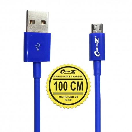 OptimuZ Kabel Micro USB V8 - 1M Biru