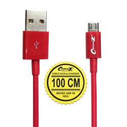 OptimuZ Kabel Micro USB V8 - 1M Merah