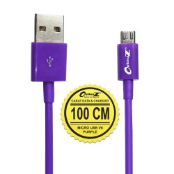 OptimuZ Kabel Micro USB V8 - 1M Ungu