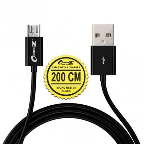 OptimuZ Kabel Micro USB V8 - 2M Hitam
