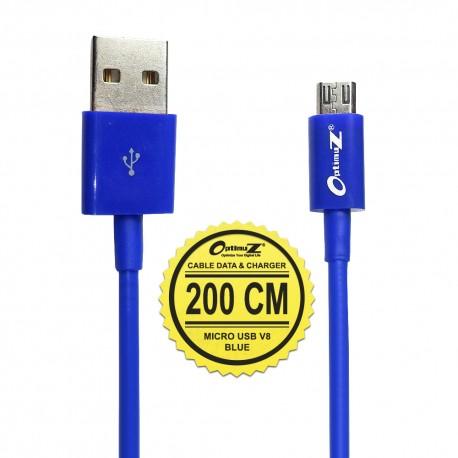OptimuZ Kabel Micro USB V8 - 2M Biru