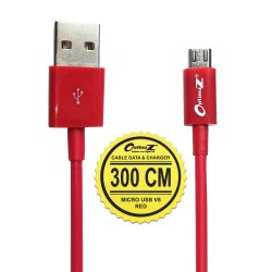 OptimuZ Kabel Micro USB V8 - 3M Merah