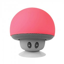Speaker Bluetooth Mini Jamur - Peach Red