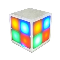 Speaker Bluetooth Sugar Cube / Rubik - Putih