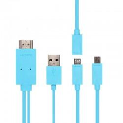 Kabel MHL Kit Adapter Micro USB ke HDMI untuk Smartphones