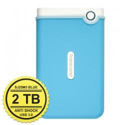 Transcend StoreJet 25M3 - 2TB Blue- Hard Disk Eksternal USB 3.0