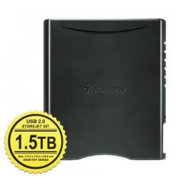 "Transcend StoreJet 35T2 - 1,5TB - Hard Disk Eksternal Desktop 3.5"" Turbo Sata USB 2.0"