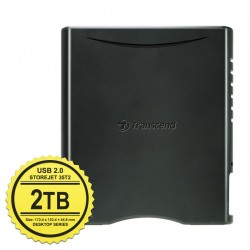 Transcend StoreJet 3.5 Turbo Sata USB 2.0 - 2TB Hard Disk Eksternal Desktop