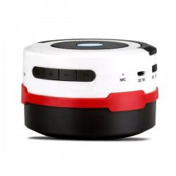 OptimuZ Speaker BL10 Lentera Lipat Bluetooth - White-Red