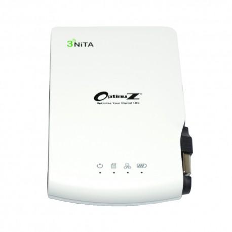 Optimuz Trinita 3300mAh   3Nita Wireless + Storage + Power Bank