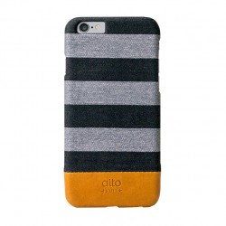 Alto Leather Case for iPhone 6 - Denim - Zebra Grey
