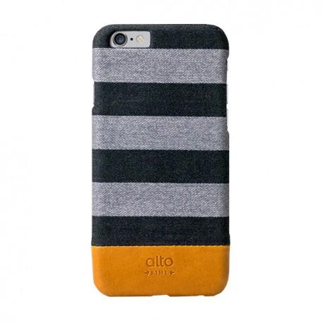 Alto Leather Case for iPhone 6 - Denim - Zebra Grey