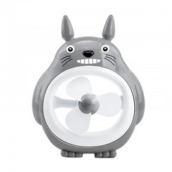 Totoro Mini Fan Portable - Abu-abu