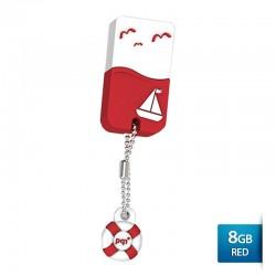 Pqi U605L Flashdisk USB 2.0 Waterproof & Shockproof - 8GB Red